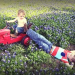 One of the great families enjoying our bluebonnets