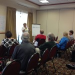 Carolyn Vogel leading a breakout group at the Connemara Conservancy workshop in Allen, TX.
